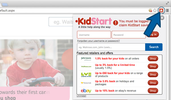 Install the KidStart Savings Prompt on Chrome - Step 3