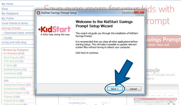 Install the KidStart Savings Prompt on Internet Explorer Step 3