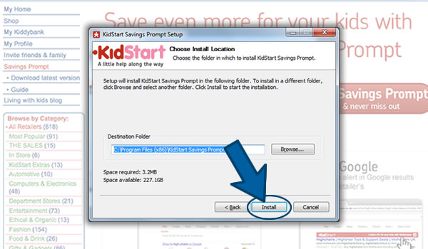 Install the KidStart Savings Prompt on Internet Explorer Step 4
