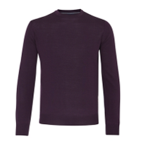 MOSS 1851 TAILORED FIT PLUM MERINO BLEND CREW NECK JUMPER - Was £20 now £20