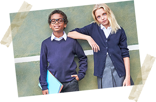 With short sleeve shirts, pretty skirts, cool shorts and gingham dresses. School uniforms covered all year round from £2.50.