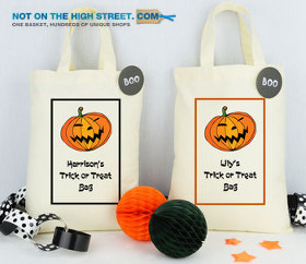 Personalised Halloween treat bag: Not on the high street