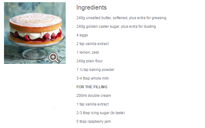 How To Get Ingredient List For Your Cake