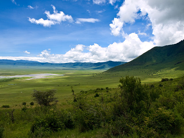 Tanzania Ngorongoro Crater, the world's largest inactive and intact volcanic caldera