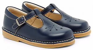 Little Bird by Jools Navy Punch Out Leather Shoes