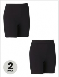 Top Class Girls Cycling Shorts (2 Pack)