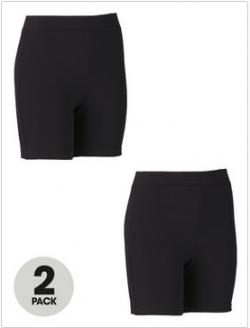 Top Class Girls Cycling Shorts (2 Pack)