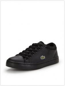 LACOSTE JUNIOR STRAIGHTSET LACE SHOE BLACK
