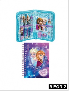 Disney Frozen Notebook and Filled Pencil Case