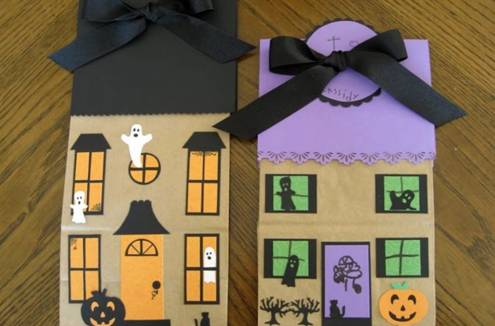 paper bag haunted house