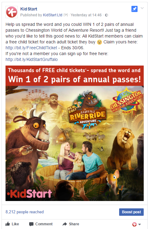Chessington World of Adventures Competition