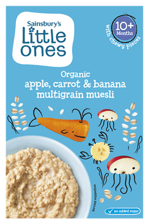 Sainsbury's Little Ones carrot, apple and banana porridge