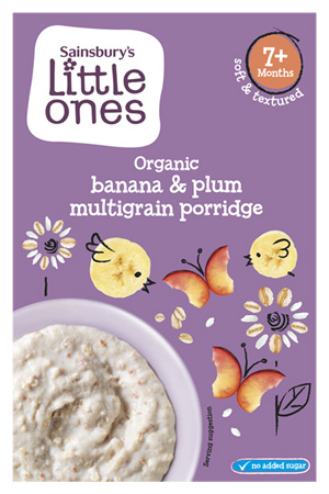 Sainsburys Plum and Banana Porridge