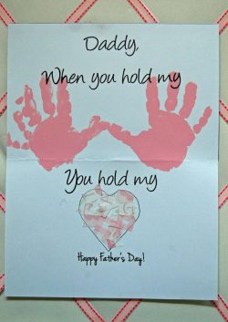 Father's Day Card - Hold my Hand, Hold my Heart